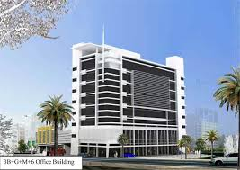 office building design architecture. This Contemporary Modern Design Inspired Office Building Situated In Old Al Ghanim Doha Is Composed Of 3 Basement Parkings. The Ground And Mezzanine Floor Architecture