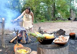 Jamestown Settlement Powhatan Village Cooking History Is Fun