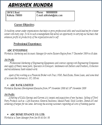 Cv Template Doc Resume Example