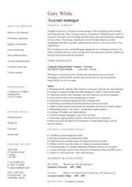 Resume For Managerial Position Management Cv Template Managers Jobs Director Project
