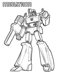 Small Picture Transformers Megatron Coloring Page Coloring Book