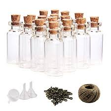 25ml small mini glass bottles sample jars with cork stoppers for art crafts 0 86 inch diameter x 3 7 inches tall