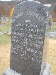 Michael Snedeker 1840 1905 Find A Grave Memorial