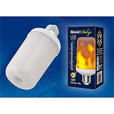 <b>LED</b>-<b>L60</b>-<b>6W</b>/<b>FLAME</b>/<b>E27</b>/<b>FR PLD01WH Лампа</b> светодиодная ...