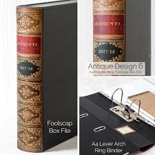 box file and ring binder old book style