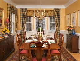formal dining room curtains. Dining Room : A Formal Curtain Ideas In Mint Including Wooden Table, Read Seat Chairs, Flowers, Chandelier, Standing Lamp, Painting, Curtains