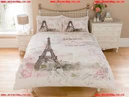 paris eiffel tower modern duvet cover reversible bedding set all sizes tm6uf1os