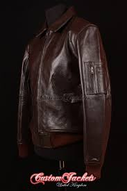 men s ma2 aviator brown cowhide usaf harrington army military er pilot leather jacket