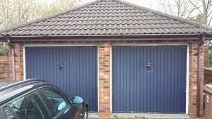 twin garage doors before