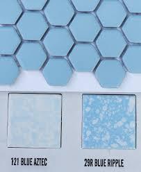 blue hex ceramic tile