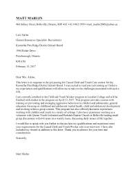 Best Ideas Of Child And Youth Worker Cover Letter About Cover Letter