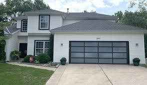 modern aluminum glass garage doors