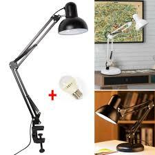 Desk Work Light Details About Long Arm Desk Lamp Work Reading Adjustable Folding Clip On Led Table Light Lamp