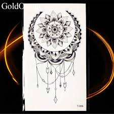 небольшие серьги Henna Mandala цветок временная татуировка изображение солнца луны и
