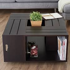 Furniture: Leather Suitcase Lift Top Coffee Table - Unique Coffee Tables