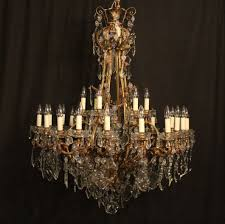 late 19th century large french bronze 24 light antique chandelier