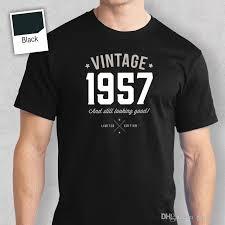 60th birthday gift present idea for boys dad him men t shirt 60 tee shirt 1957 sleeve t shirt summer men tee tops clothing shirt cartoon t shirts