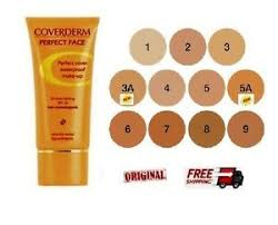 Details About Coverderm Perfect Face 11 Shades To Choose Spf20 Waterproof Make Up 30ml