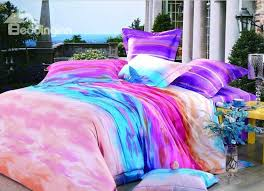 luxury high quality grant color print 4 piece bedding sets duvet cover sets