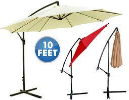 cantilever patio 10 foot hanging offset cantilever patio umbrella with crank yugster