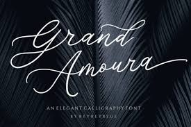 Grand Amoura Font By Reyrey Blue Creative Fabrica