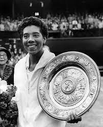 Image result for tennis player Althea Gibson becomes the first African-American allowed to play in the United States Lawn Tennis Association's championship in Forest Hills, New York. S