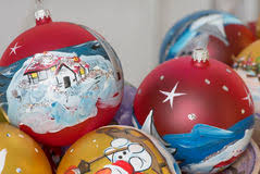 Hand Decorated Christmas Balls Christmas Handpainted Balls Stock Image Image Of Santa Ball 56