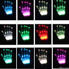 Light Gloves 2019 Cycling Led Light Gloves Stage Performances Props Led Finger Lighting Gloves Halloween Ghost Skull Gloves Led Rave Toy Party Cosplay Glove From