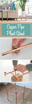 DIY Raised Copper Pipe Plant Stand