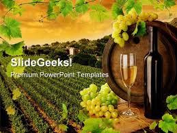 Wine Powerpoint Template Wine Vineyard Nature Powerpoint Template 0810 Powerpoint Themes