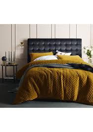 velvet duvet cover king. Fine Cover Vintage Design Homewares  Gold Harmony Chevron Quilted Cotton Velvet Quilt  Cover Set King Must Have Bedding Onceit In Duvet