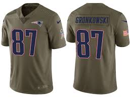 Olive 2017 New Salute Service Patriots Rob England To Gronkowski Men's Jersey