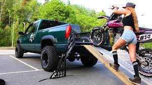 Saaraazh - How To Load a Motorcycle Into a Truck - Girl Edition ...