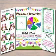 Brownie Kaper Chart Meeting Display Board Instant