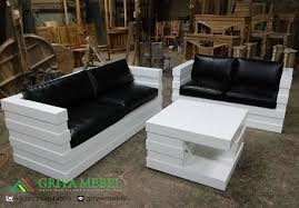 Set Kursi Tamu Minimalis Robot Putih kursi tamu murah kursi tamu duco  putih