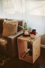 wood crate furniture diy. diy wood crate side table simple woodworking project furniture o