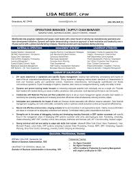 Supply Chain Manager Resume Example Examples Of Resumes