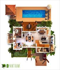 virtual house plans. room · top view 3d virtual floor plan design house plans l