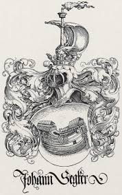 Wappen Des Johann Segker Holzschnitt Bei