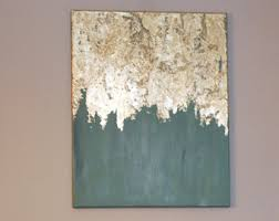 Large gold leaf abstract painting gold leaf by AddiJosFootprints