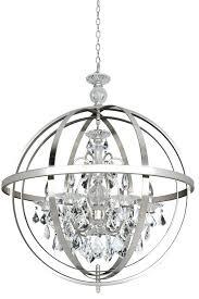 brushed nickel crystal chandelier inspiring photo 4 of modern round silver metal
