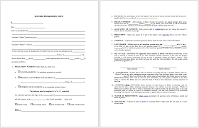 Promissory Note Templates Word 43 Free Promissory Note Samples Templates Ms Word And Pdfs