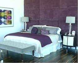 Purple And Grey Bedroom .