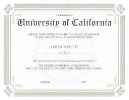 Degree Certifica Sample Doctoral Degree Certificate Copy Certificate