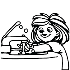 litte girl washing hand with bubble soap coloring pages litte hand washing litte girl washing hand