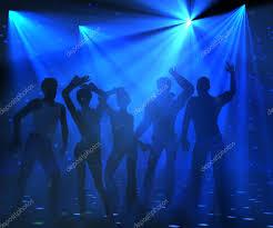 Blue Light Disco Blue Lights Disco Party Stock Photo Surovtseva 95134820