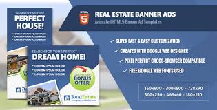 real estate ad real estate banner ads html5 animated by infiniweb codecanyon