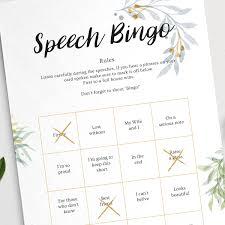 Wedding Bingo Words Wedding Table Game Ideas Hitched Co Uk