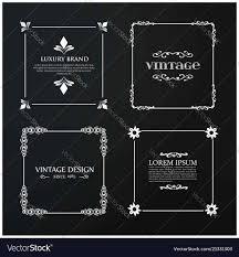 Web Design Sample Text Set Of 4 Vintage Typography White Sample Text On