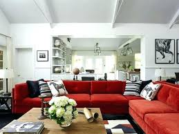 red sofa decorating living room